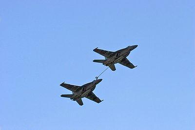 F/A-18F Super Hornet mid-air refueling