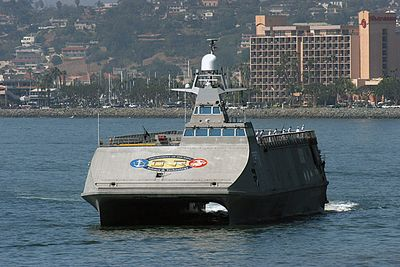 Sea Fighter (FSF-1).  High speed experimental vessel for littoral warfare concepts.