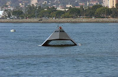 Sea Shadow.  Experimental platform for stealth vessel technology