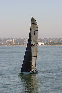 Abracadabra,  America's Cup Class yacht available for charter in San Diego.