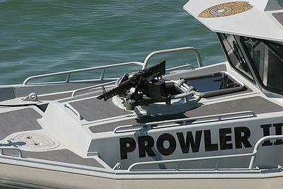 M-60 Machine Gun on Naval Security Patrol Boat