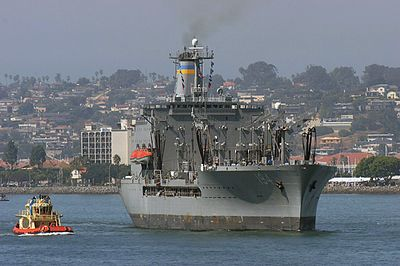 USNS John Ericsson (T-AO 194).  MSC (Military Sealift Command) Supply ship.  Crewed by civilians.