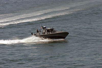 US Navy Coastal Warfare Boat