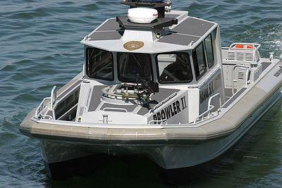 Close up of San Diego Naval Security Patrol Boat