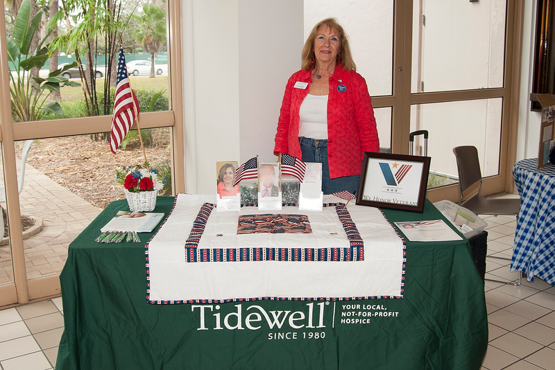 Tidewell volunteer at the Friendship Center's, 2012 Salute to Veterans, Sarasota Florida. Follow this link for more information or to make a donation http://tidewell.org.