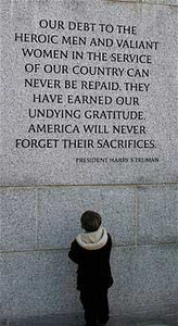 History of Veterans Day: These words were part of President Harry Truman's address to a joint session of Congress April 16, 1945, shortly after President Franklin Roosevelt died. President Truman's address made clear that the United States would see World War II through to the end.