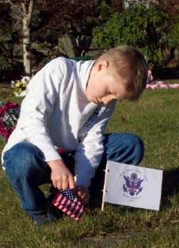Veterans Day 2003, Bayview Cemetery, Ketchikan, Alaska.