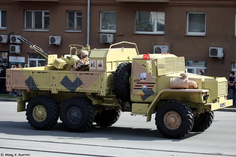 Бронированный Урал-4320 с ЗУ-23-2 (Armoured Ural-4320 with ZU-23-2)