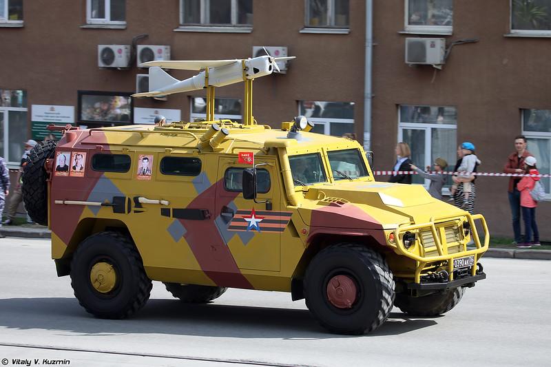 АСН 233115 Тигр-М СпН с БПЛА Орлан-10 (ASN 233115 Tigr-M SpN with Orlan-10 UAV)