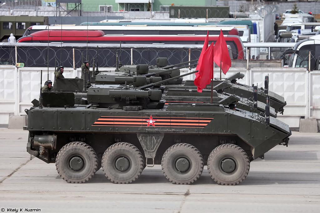 БМП-К К-17 ВПК-7829 на унифицированной колесной боевой платформе Бумеранг (Wheeled IFV BMP-K K-17 VPK-7829 on unified wheeled combat platform Bumerang)