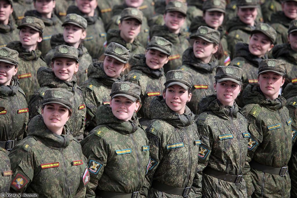 Сводный батальон девушек курсантов (Female cadets)