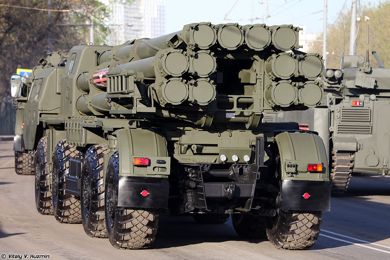 Боевая машина 9А52-2 РСЗО 9К58 Смерч (9A52-2 launcher for 9K58 / BM-30 Smerch MLRS)