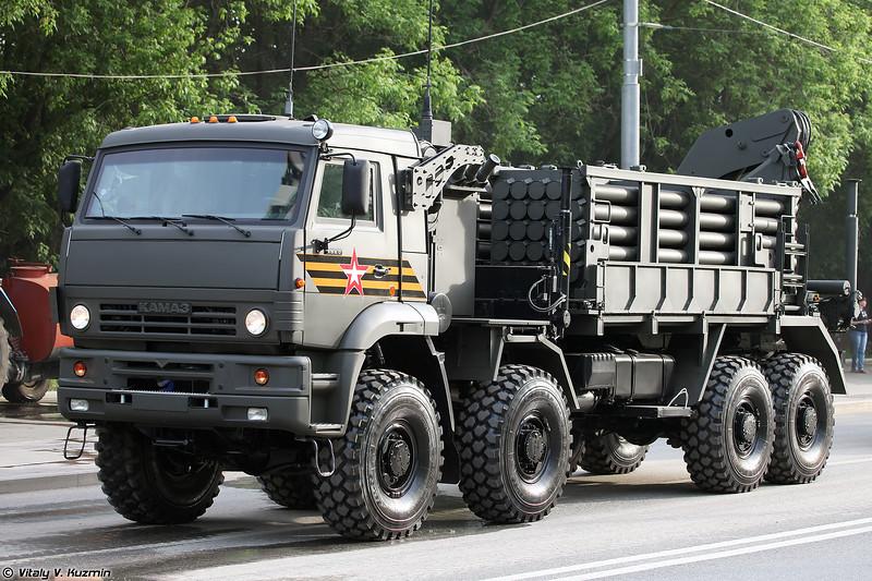 Транспортно-заряжающая машина инженерной системы дистанционного минирования ИСДМ (ISDM minelaying system transloader)