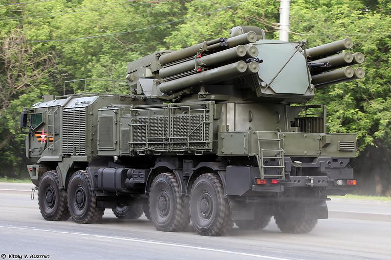 ЗРПК Панцирь-СМ с новыми малогабаритными ракетами для уничтожения сверхмалых целей (Pantsir-SM with new anti-UAV SAM)