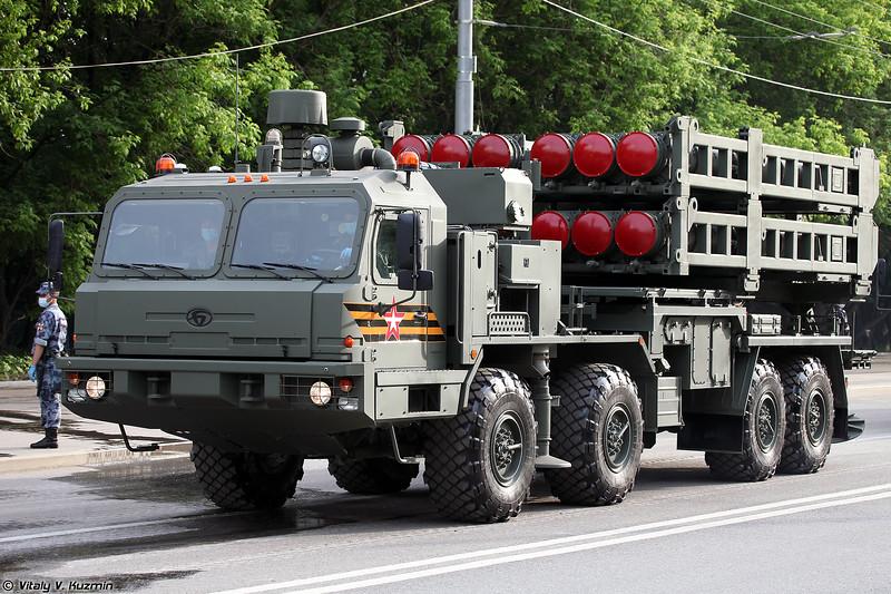 Пусковая установка 50П6 из состава ЗРС С-350 (50P6 TEL for S-350 Vityaz system)