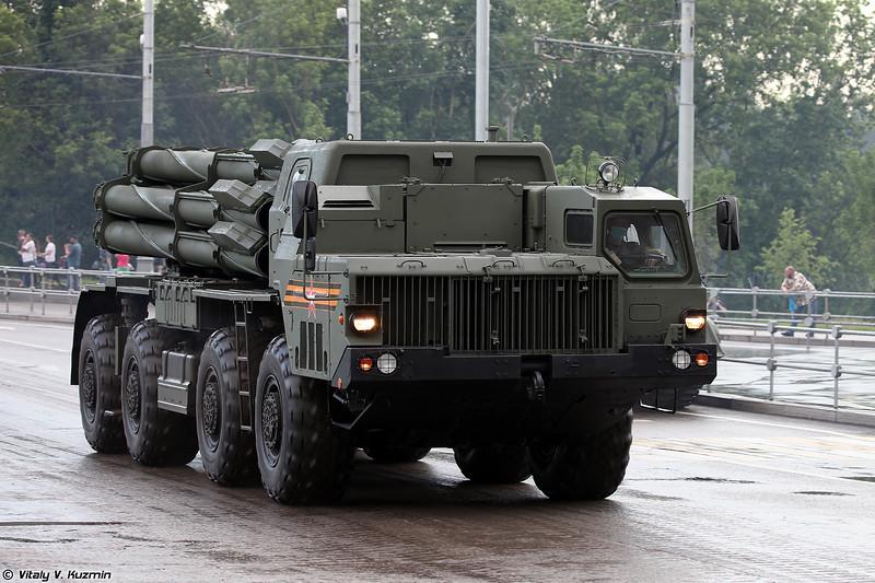 Боевая машина 9А54 РСЗО 9К515 Тонадо-С (9A54 launcher of 9K515 Tornado-S MLRS)