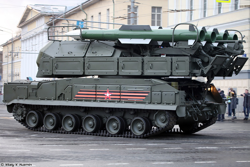 Самоходная огневая установка 9А317 ЗРК Бук-М2 (9A317 TELAR for Buk-M2 air defence system)