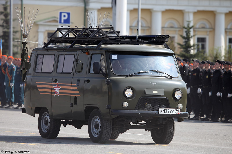 Подвижный узел связи Р-986М из состава стартового командного пункта СКП-12М (R-986M signal vehicle from SKP-12M aircraft control post)