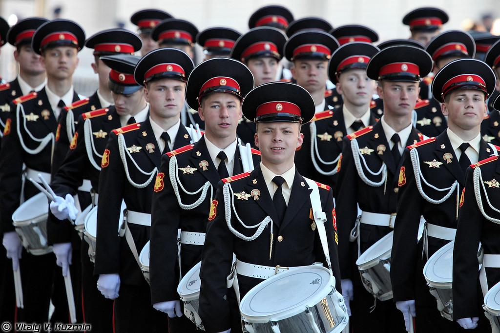 Рота барабанщиков Московского военно-музыкального училища (Drummers company from Moscow Military Music School)