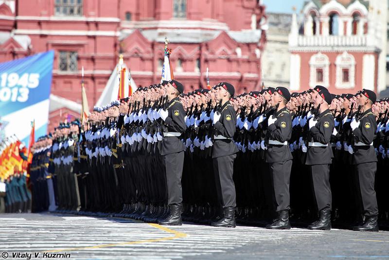 Военнослужащие 336-й отдельной гвардейской Белостокской орденов Суворова и Александра Невского бригады морской пехоты (336th Separate Guards Naval Infantry Brigade)