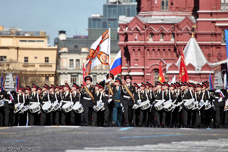 Прохождение торжественным маршем открывает рота барабанщиков (Drummers company)