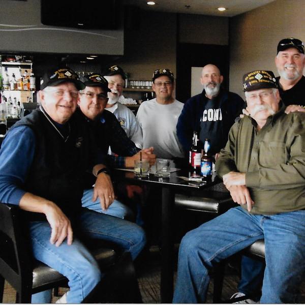 left to right,  Monte Samson, Jim Fort, Tim Milligan, Roy Pline, Pete Weeks, Gary Henry, Steve Wittenberg
