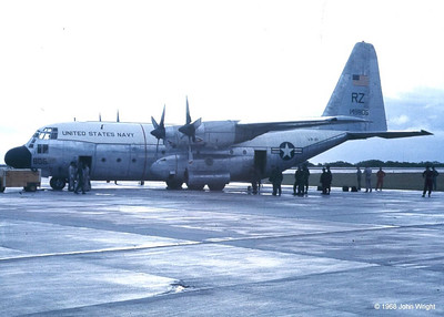 C-130 transport aircraft at Kwajalein Atoll.