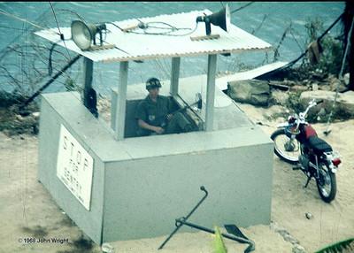 Sentry post at entrance to Nha Trang base