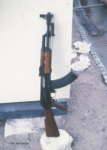 Captured Chinese-built Kalishnikov AK-47