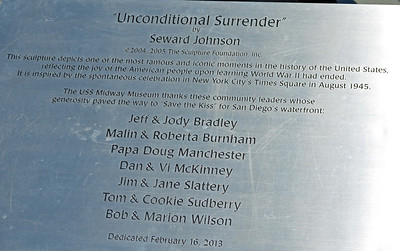 "Title of the ""Unconditional Surrender"" Statue"