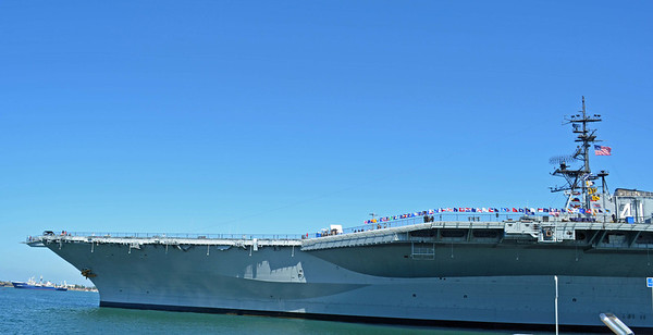 USS Midway Angled Deck Flag Show