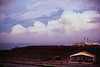 Sunset at the Chu Lai Amphitheatre, May 1971.<br /> The 91st Evacuation Hospital is at the top of the hill.