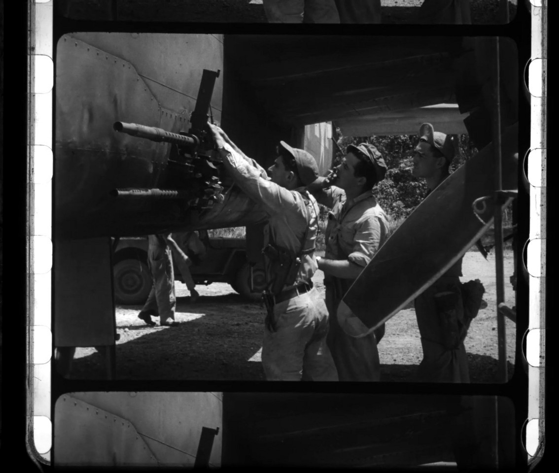 11-15-1943 <br /> 345thBG 501St New Guinea Wartime 35mm Motion Picture Transfer