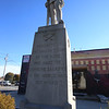 WWI monument at Fletcher and Willie Streets in Lowell, by the Lowell Firefighters Club. (SUN/Julia Malakie)