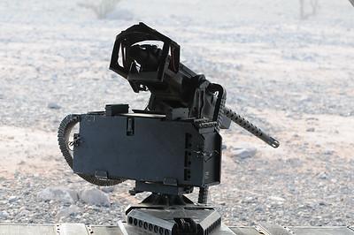 Browning .50 caliber machine gun.
