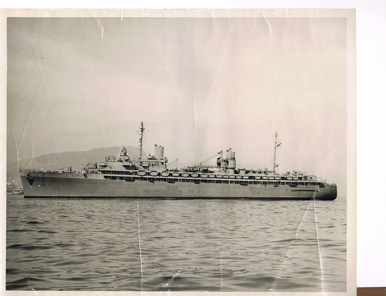Photos provided by the family of William Edward Patterson Jr., FN1 USN<br /> <br /> USS VULCAN AR-5 – 1944 Photo Unknown location.