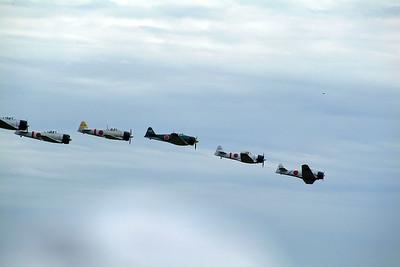Tora Tora flight demonstation, reactment of the bombing of Pearl Harbor, attack of the Zeros