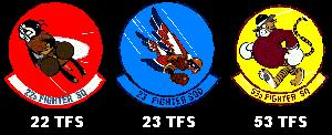 Bitburg Air Base was home to the 36th TFW composed of these three tac fighter squadrons flying the F4E.