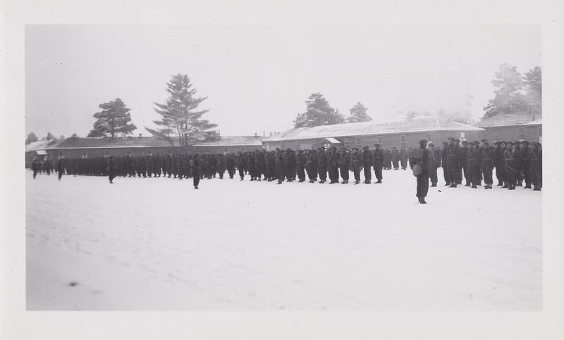 Troops outside in gear