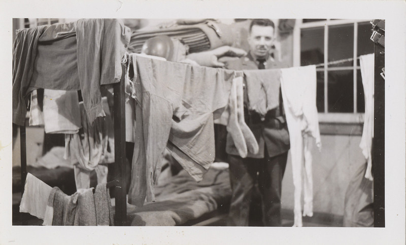 Doing laundry in barracks