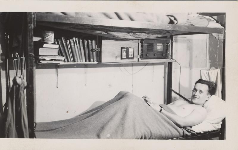 Somebody made himself comfortable in barracks