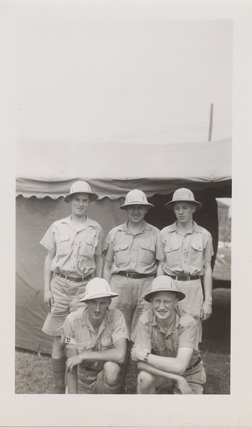 Lloydl Lnatz with four others all in tropical? uniforms