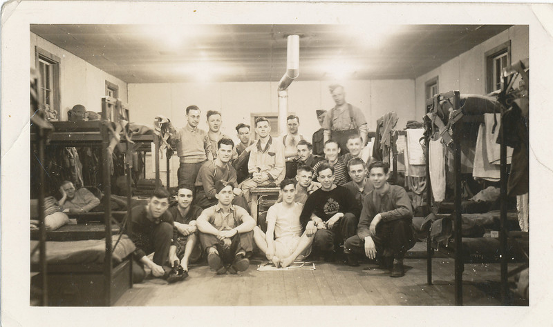 In barracks during World War Two.