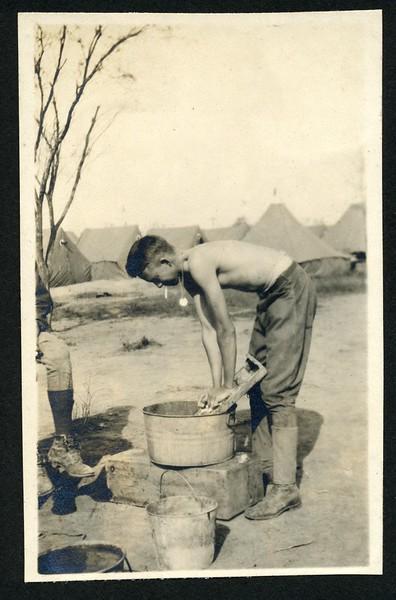 Unidentified Lynchburg Home Guardsman Doing Laundry (06235)