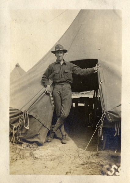 Solider by His Tent (03442)