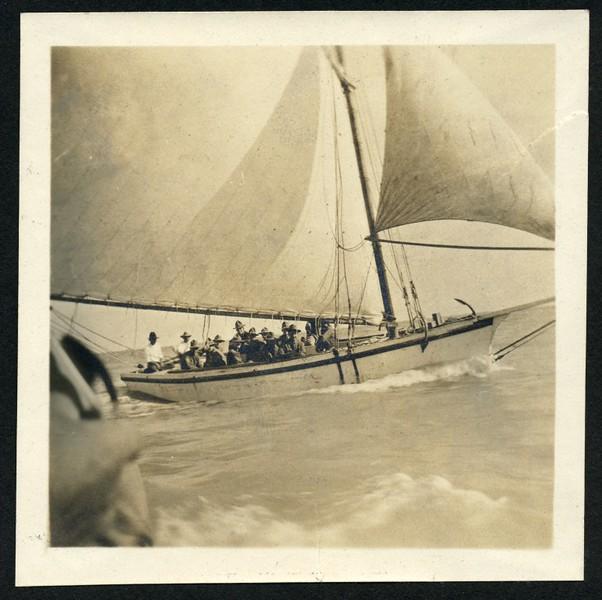 Lynchburg Home Guard on Sail Boat (06273)