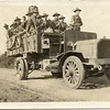 Lynchburg Musketeers Riding in a Military Truck (03259)