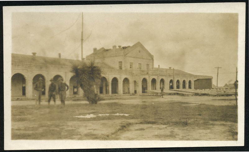 Lynchburg Home Guardsmen in front of a Large Building (0623)