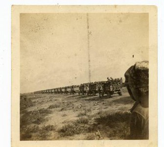 Military Trucks Near the Mexican Border  (03193)