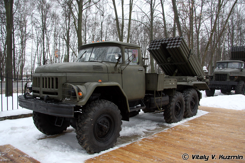 «Град-1» 9К55 на базе ЗиЛ-131 (Grad-1 MLRS on ZiL-131 chassis)